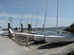 Sailing school dinghy's.