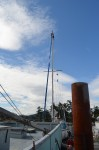 Nice change. Luksana up the mast.