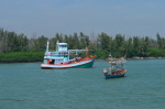 fisherman boat at Pak Nam Pran